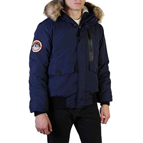 Superdry Everest Bomber Chaqueta, Azul (Nautical Navy 09s), S para Hombre
