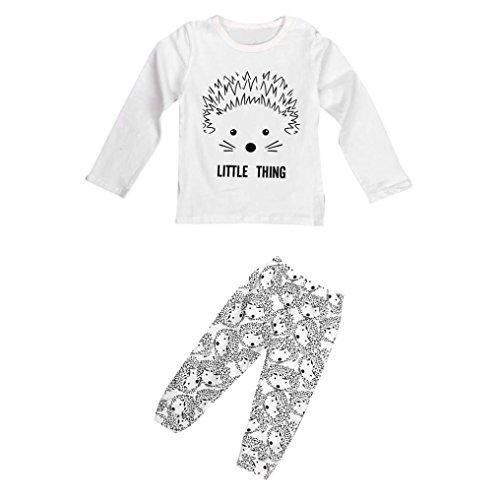 kingko® 1Réglez Infant Bébés garçons filles Cartoon Imprimer T-shirt Tops + Pantalons Tenues Vêtements (24M)