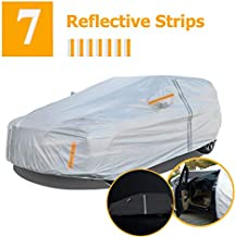NUOMAN SUV Car Cover Waterproof All Weather for Automobiles,6 Layers Hail UV Snow Dust Outdoor Full Cover Protection,7 Reflective Strips Universal SUV/Jeep Car Cover A5 (Fit Length 188