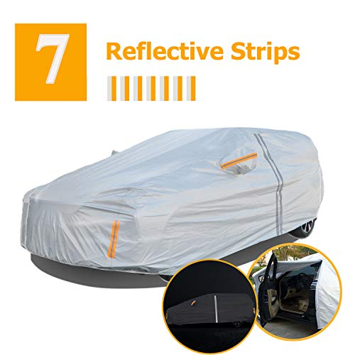 NUOMAN SUV Car Cover Waterproof All Weather for Automobiles,6 Layers Hail UV Snow Dust Outdoor Full...