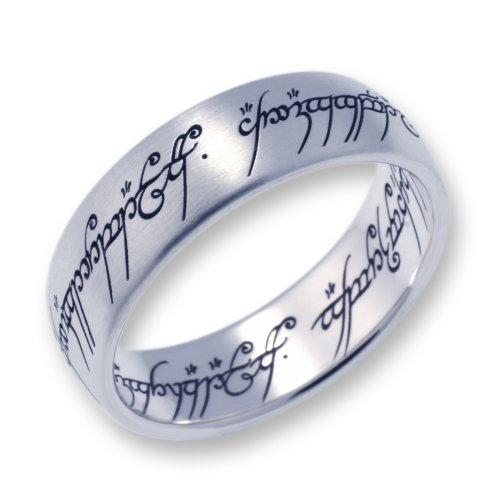 Herr der Ringe Schmuck by Schumann Design Der eine Ring Edelstahl matt Rg 70 1001-070