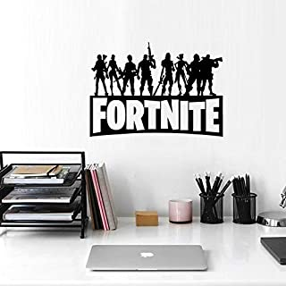 Black Fortress Night FORTNITE Game Wall Stickers Game Characters Metallic Effect View Home Devor Wall Decal Removable Home...