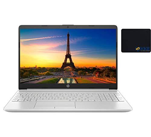 "2021 Newest HP Laptop, 15.6"" HD Touchscreen, 11th Gen Intel Core i3-1115G4 Processor, 12GB DDR4 RAM, 512GB SSD, HDMI, Webcam, Wireless-AC Wi-Fi 5, Bluetooth 4.2, Windows 10 Home, KKE Mousepad, Silver"