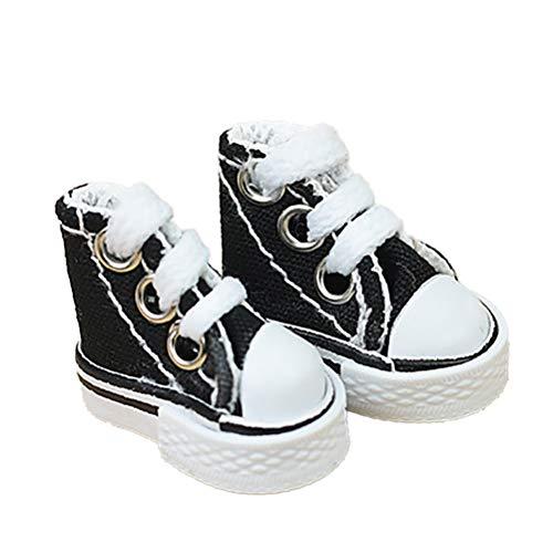 Akemaio 3.5 CM Chaussures de Toile décoration Chaussures de Danse de Doigt Supermodel Ragdoll Chaussures Baskets Ornements