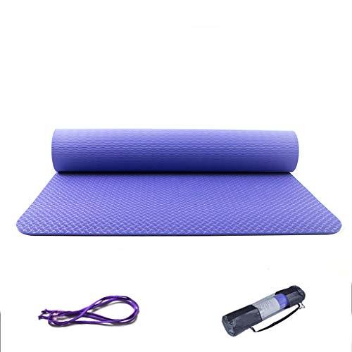 LLKK Colchoneta de Yoga Alta Antideslizante Colchoneta de Yoga Alargada de Colchoneta de Fitness para Principiantes Traje de Tres Piezas Hombres y Mujeres engrosados(1 Articulo)