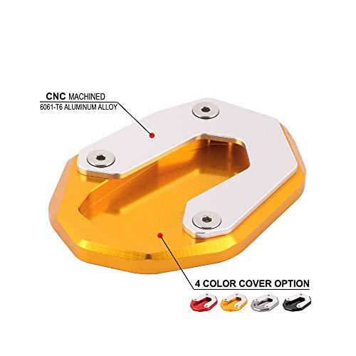 JFG RACING CNC Motorrad Ständer Seitenständer Fuß Pad Platte Für Ducati Scrambler Sixty2 800 Café Racer-Gold