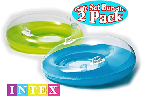 Inflatable Pool Loungers Blue & Green Gift Set Bundle – 2 Pack $29.88(40% Off)