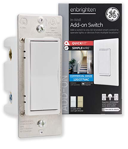 GE Enbrighten Add-On Switch with QuickFit and SimpleWire, GE...