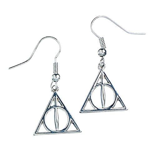 Harry Potter pendientes Reliquias de la muerte plateado longitud 3,3cm adorno