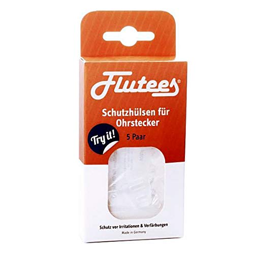 FLUTEES Schutzhülsen für Ohrstecker 5 St
