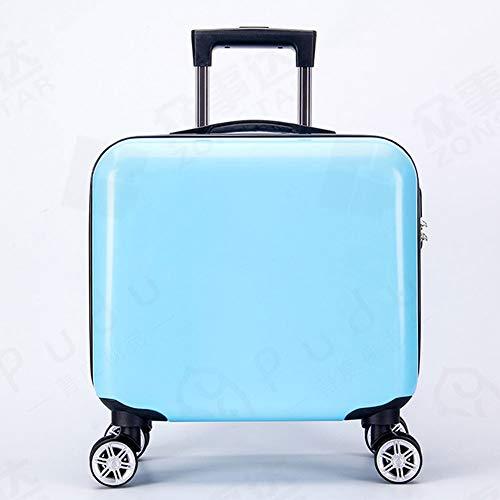 18-inch glanzend oppervlak vliegtuig cabine koffer lichtgewicht ABS dragen op handbagage wachtwoord doos 4 spinner wielen Trolley