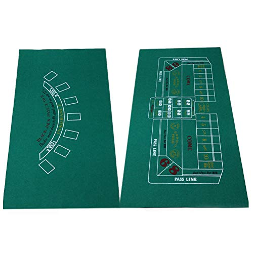 LIXILI Mesa De Doble Cara Mesa Y Ruleta Casino Fieltro, Conveniente 72'X 36' Roll-Up Casino Matching Mat
