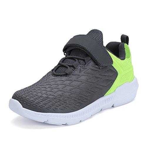 AFFINEST Unisex-Kinder Sportschuhe Fashion Seakers Breathable Leuchtschuhe Freizeitschuhe Jungen Outdoor Schuhe mit Multicolor(grau,31)
