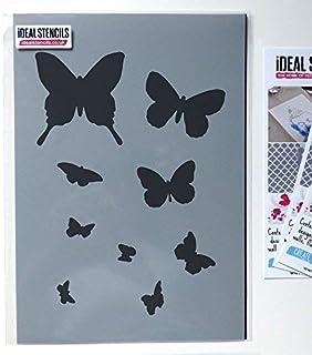 4,3 Réutilisable Craft Pochoirs ou Vinyle Autocollant Meubles murs Papillon 099 A5