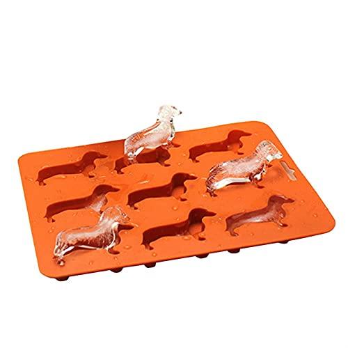 molde hielo cubiteras Creative Silicone Dachshund Puppy en forma de hielo Cubo de hielo Chocolate Molde de galletas DIY Home Bandeja de hielo Herramientas de cocina (Color : Dogs)