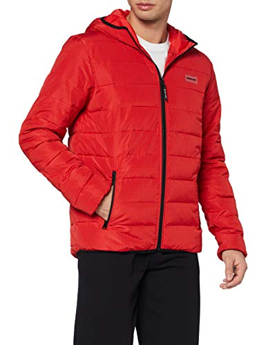 DC Shoes Turner Puffer - Chaqueta Aislante Con Capucha Para Hombre Chaqueta Aislante Con Capucha, Hombre, racing red, S