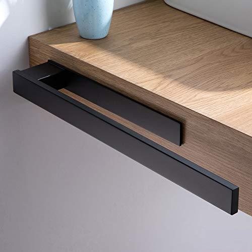 Kegii Schwarz Handtuchhalter ohne Bohren Handtuchstange Selbstklebend Badetuchhalter Edelstahl für Badezimmer und Küche, 39cm