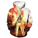 zlhcich Sudadera con Capucha de Bolsillo de Parche Suelta con Cuello de suéter impresión 3D para jóvenes