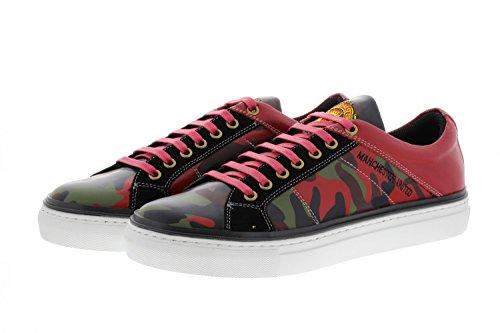 Manchester United FC Oficial Hombres Zapatillas Zapatos Manu Regalos Ropa Ventilador, diseño de Camuflaje