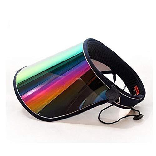 XMYNB Sonnenhut Unisex Casual Sommer Hut Damen Sonnencreme Hut Transparent Leer Top Baseballmütze Plastik PVC Sonnenvisier Sonnenhut Männlich