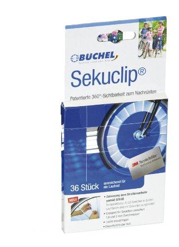 Büchel Seku Clips, Speichen Refelktoren, StVZO zugelassen, 80 mm, 36 Seichenreflektoren, 50103002