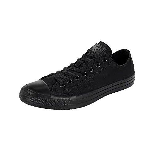 Converse Chuck Taylor Unisex-Schuh, mit Doppel-Zunge, Schnürschuh, Schwarz - Black Mono - Größe: 39 EU D(M)