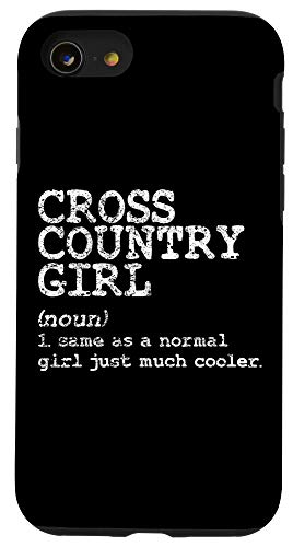 iPhone SE (2020) / 7 / 8 Cross Country Girl Definition Funny Running Sport Track Gift Case