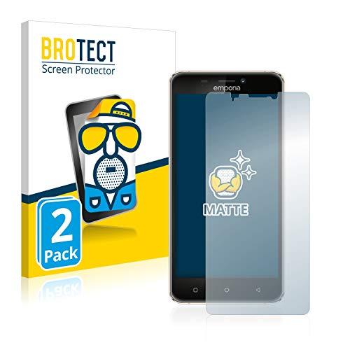 BROTECT 2X Entspiegelungs-Schutzfolie kompatibel mit Emporia Smart 2 Bildschirmschutz-Folie Matt, Anti-Reflex, Anti-Fingerprint