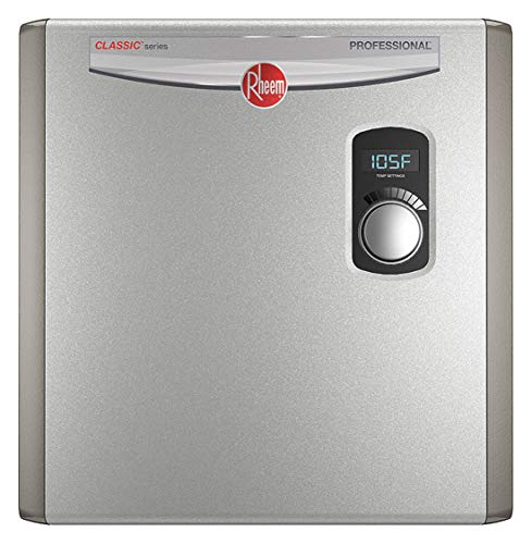 RHEEM 208/240V General Purpose Electric Tankless Water Heater, 27,000 Watts, 112 Amps - Water Heaters