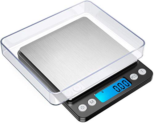 GRIFEMA - Báscula de Cocina con Pantalla LCD, Digital, Balanza con Tapa, Acero Inoxidable