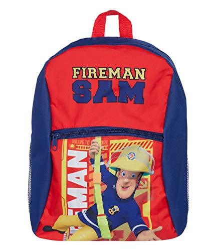 Feuerwehrmann Sam Rucksack für Jungen mit Fotodruck und Extrataschen Dunkelblau