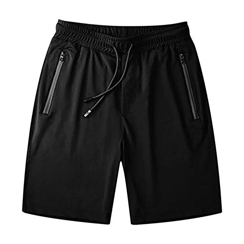 yiouyisheng Pantalones cortos de verano para hombre, de secado rápido, para correr, entrenamiento, fitness, yoga, tallas M-7XL Negro XXXXL