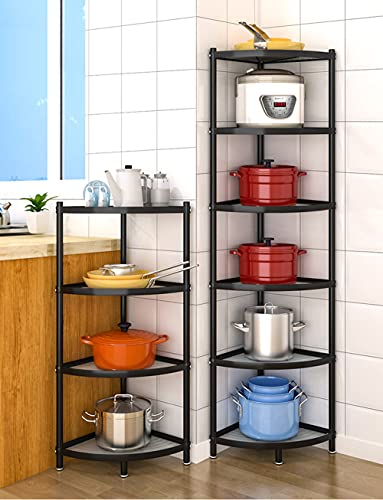 6-Tier Kitchen Pot Rack, Cookware Stand Storage Organizer ,Multi-Layer Corner Shelf Stand Stainless Steel Shelves for Kitchen