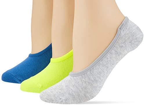 s.Oliver Socks S25105 Calcetines cortos, Azul (Star Sapphire 5543), 43-46 (Pack de 3) para Mujer