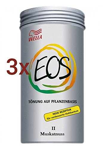 Wella EOS Pflanzentönung II Muskatnuss 3 x 120 g Tönung auf Pflanzenbasis