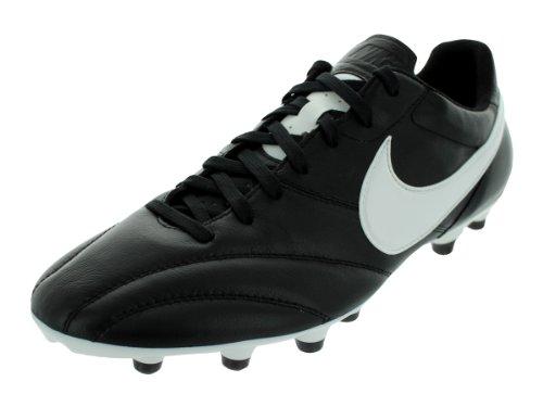 Nike Mens The Premier Soccer Cleat (Black/Summit White/Orange) (6.5)
