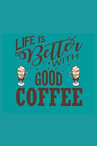 Notizbuch Kaffee: Planer | Tagebuch | Notizblock | Schreibheft | perfektes Geschenk für Kaffee Liebhaber | liniertes Notizbuch mit Kaffee Motiv | Größe 6