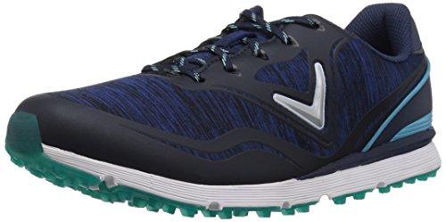 Callaway Women's Solaire Golf Shoe, Navy/Blue, 8.5 B US
