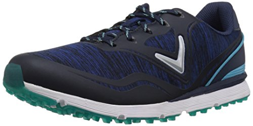 Callaway Women's Solaire Golf Shoe, Navy/Blue, 6.5 B US