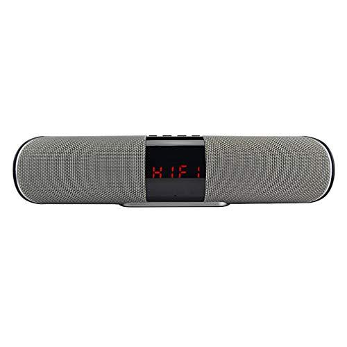 HUATINGRHBS Intelligent Bluetooth Lautsprecher,360° TWS Stereo Sound Wireless Bluetooth Speaker Freisprechfunktion AUX/TF/USB FM Radio Intensiver Bass für iPhone, Samsung usw Tragbar, Gray
