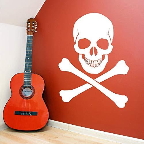 Tianpengyuanshuai Persönlichkeit Horror Piratenkopf Aufkleber Home Art Vinyl Wandaufkleber abnehmbar 50X68cm