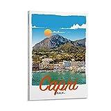 CANCUI Retro Poster Capri Italy Deko Poster deko Wohnzimmer