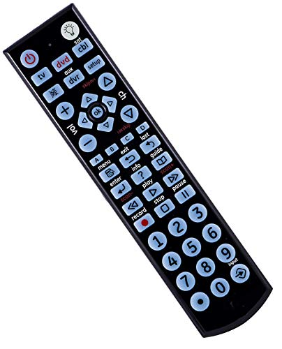 SccKcc Remote Control for Samsung, Vizio, LG, Sony, Sharp, Roku, Apple TV, RCA, Panasonic, Smart TVs, Streaming Players, BLU-Ray, DVD
