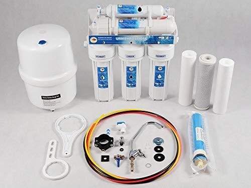 Wassefilter Germany Klassische Umkehrosmoseanlage mit BIOaktivkolhefilter - 285 Liter täglich gesundes Trinkwasser für die ganze Familie