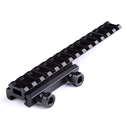 OAREA Tactical Extened High Riser Base Flat Top 143mm 14 Slots for 20mm Picatinny/Weaver Rail Mount Hunting