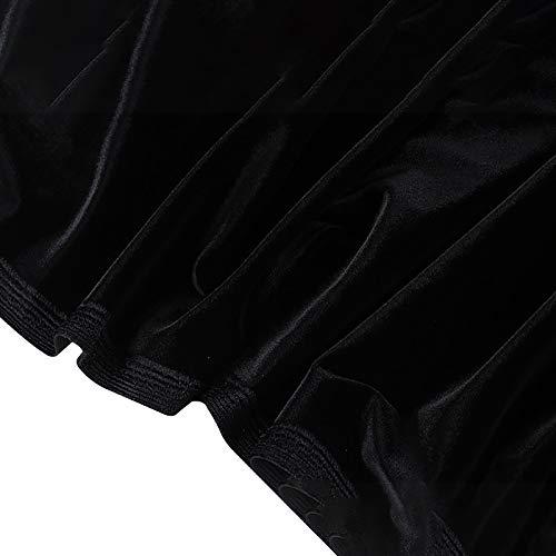 MUYUNXI Tela De Terciopelo Suave Espesar para Coser De Chaquetas Decoración Decoración del Hogar Cortinas Tapicería Vestido Sillas 155 Cm De Ancho Vendido por 2 Metro(Color:Negro)