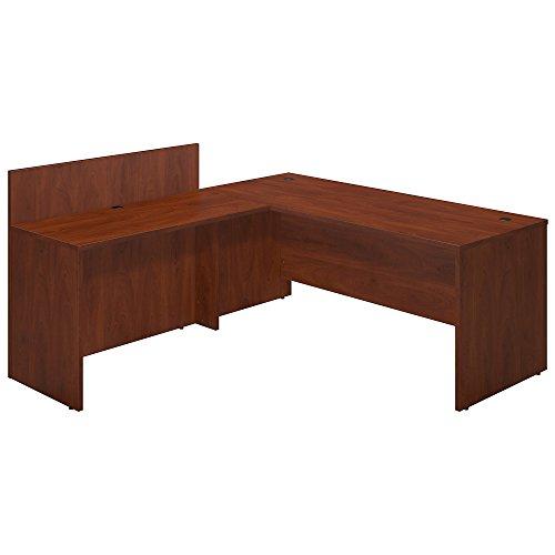 Bush Business Furniture Series C Elite 72W x 30D Desk Shell with 48W Privacy Return in Hansen Cherry
