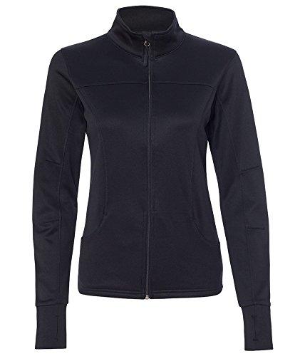 DRIEQUIP Womens Poly-Tech Full-Zip Track Jacket-3XL-Black