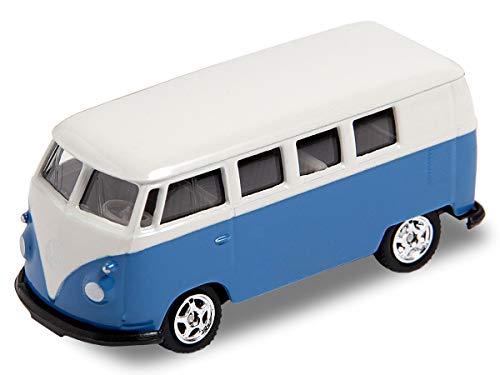 Welly VW Bus Bulli Modellauto 7,5 cm Modell Volkswagen 1:60 Bully Minibus Oldtimer, Variante wählen:56/0076 VW Bus T1 Mini blau