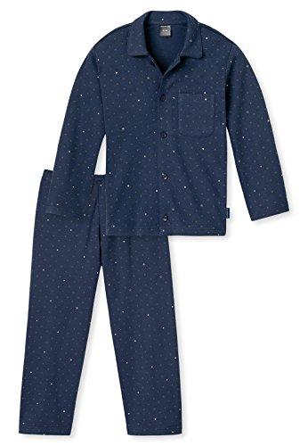 Schiesser Jungen Pyjama 154485, dunkelblau, 98